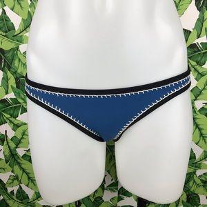 Triangl Blue Crochet Neoprene Bikini Bottom